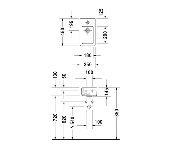 Technical drawing QS-V45475 / 0702250000