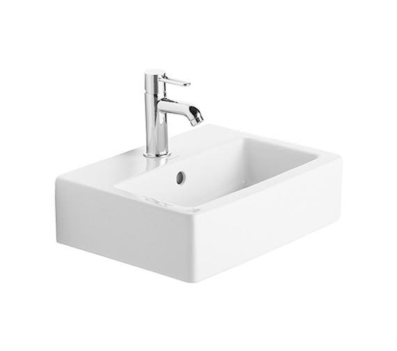 Duravit Vero White 450 x 350mm 1 Tap Hole Handrinse Basin - 0704450000