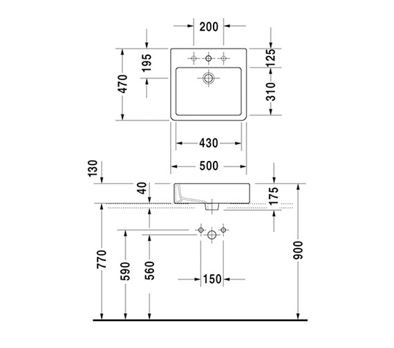 Technical drawing QS-V45482 / 0452500000