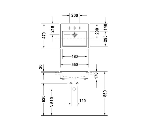 Technical drawing QS-V45486 / 0314550000