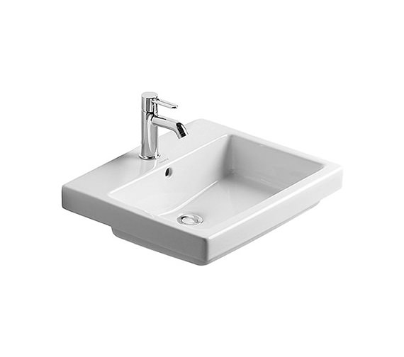 Duravit Vero White 550 x 465mm 1 Tap Hole Counter Top Basin - 0315550000