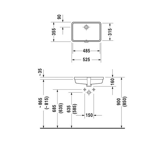 Technical drawing QS-V45488 / 0330480000