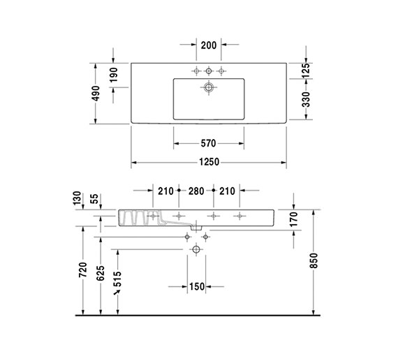 Technical drawing QS-V45493 / 0329850000