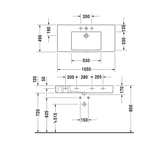 Technical drawing QS-V45491 / 0329100000