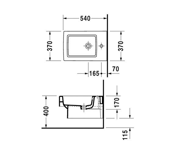 Technical drawing QS-V45495 / 2239150000