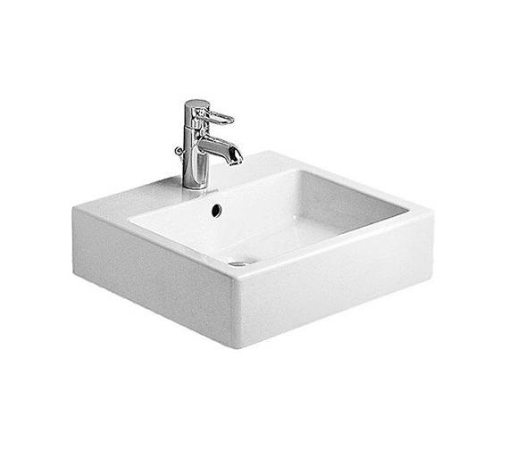Duravit Vero White 500mm 1 Tap Hole Grinded Washbasin - 0454500027