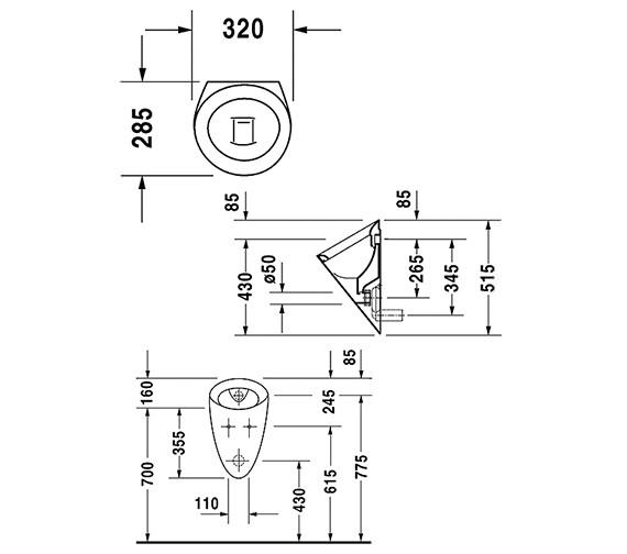 Technical drawing QS-V45520 / 08343200000