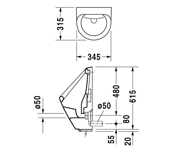 Technical drawing QS-V45528 / 0830370093