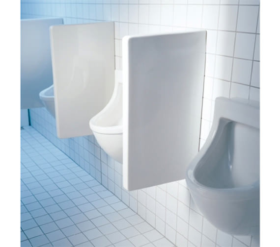 Duravit Starck 3 Ceramic Urinal Partition 705 x 400mm - 8500000000