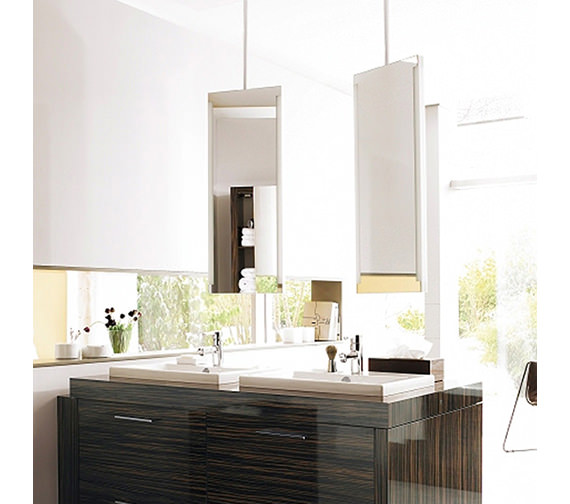 Duravit 2nd Floor Mirror With Lighting And 1480mm Ceiling panel