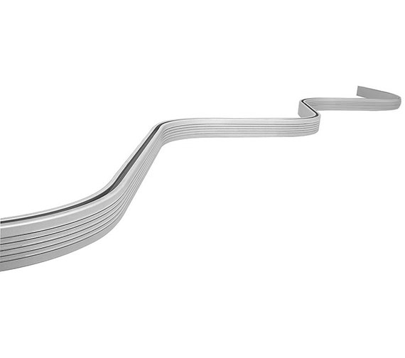 Croydex Bendy Shower Curtain Rail 3000mm White - GP78201