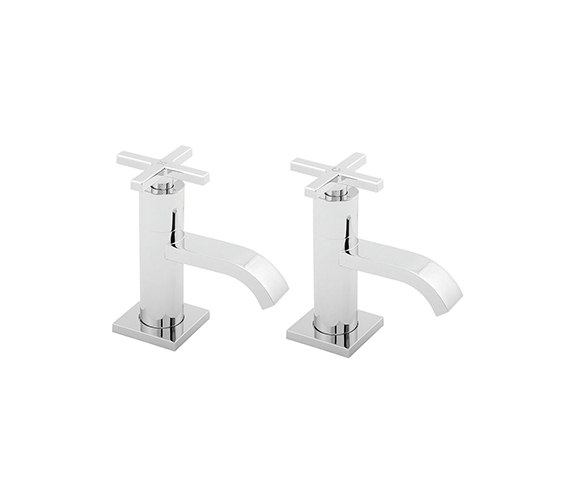 Deva Crux Chrome Basin Taps - CRUX101
