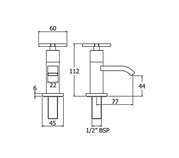 Technical drawing QS-V47012 / CRUX101