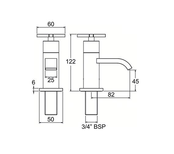 Technical drawing QS-V47013 / CRUX102