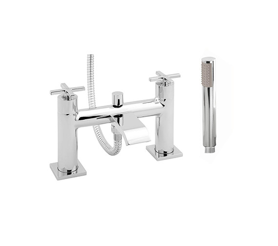 Deva Crux Deck Mounted Bath Shower Mixer Tap Chrome - CRUX106
