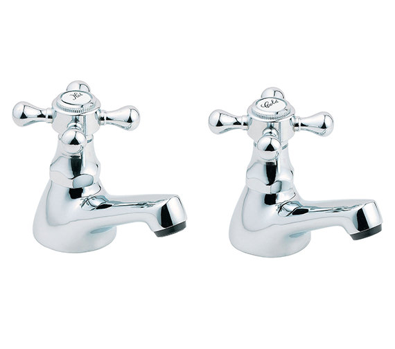 Deva Tudor Taps for Bathtub in Chrome Finish - TUD02