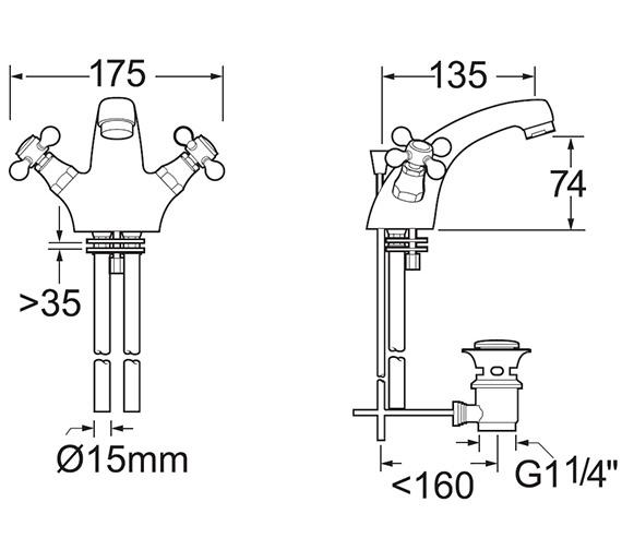 Technical drawing QS-V47101 / TUD113