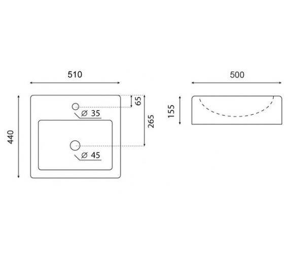 Technical drawing QS-V47202 / WM0010SCW
