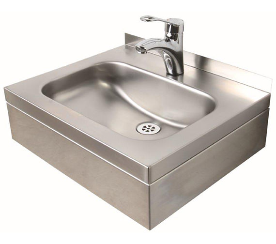 Twyford Stainless Steel 508 x 420mm 1 Tap Hole Wall Hung Basin With Apron