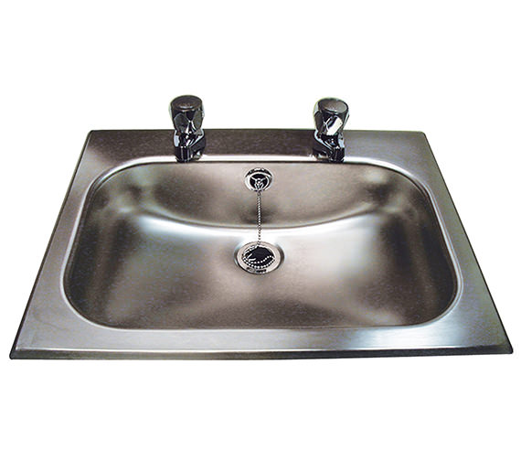 Twyford Stainless Steel 406 x 260mm Inset Bowl With Overflow