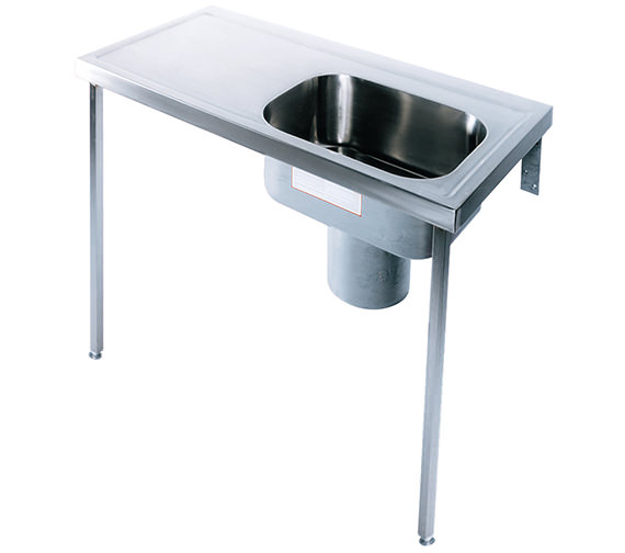 Twyford Stainless Steel 1200 x 600mm Plaster Sink And Worktop