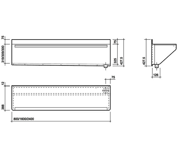 Technical drawing QS-V47238 / PS9121SS
