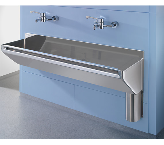 Additional image of Twyford SS 1600 x 400mm 2 Person Stainless Steel Scrub-Up Trough