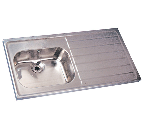 Twyford Stainless Steel 1200 X 600mm Single Sink And Single Drainer