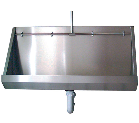 Twyford Stainless Steel 1200mm Wall Hung Urinal - PS8201SS