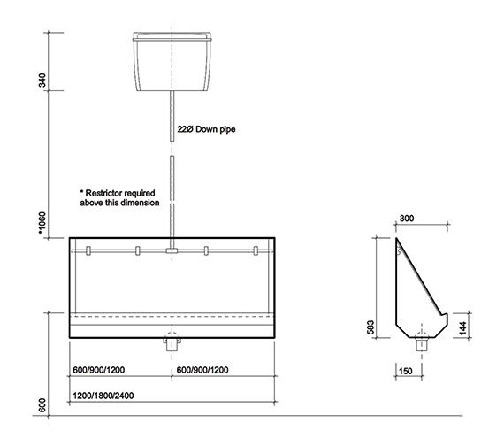 Technical drawing QS-V47248 / PS8203SS