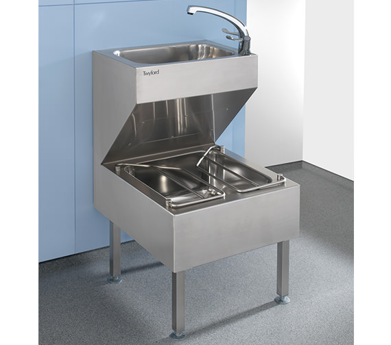 Additional image of Twyford Stainless Steel 500 x 880mm Janitorial Unit - PS8801SS