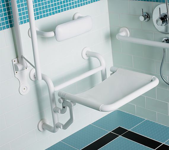 Additional image of Twyford Doc.M Shower Pack With White Grab Rails And Seat