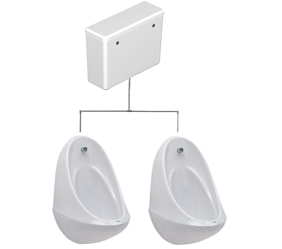 Twyford Spectrum 2 Urinal Set With Concealed FlushPipe And Cistern