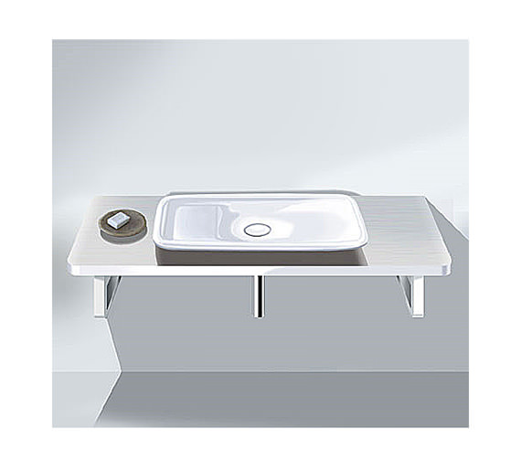 Duravit PuraVida Basin 700mm On Console 1300mm - PV070CW8585 Image