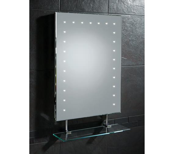 hib keo led bathroom mirror with glass shelf and shaver. Black Bedroom Furniture Sets. Home Design Ideas