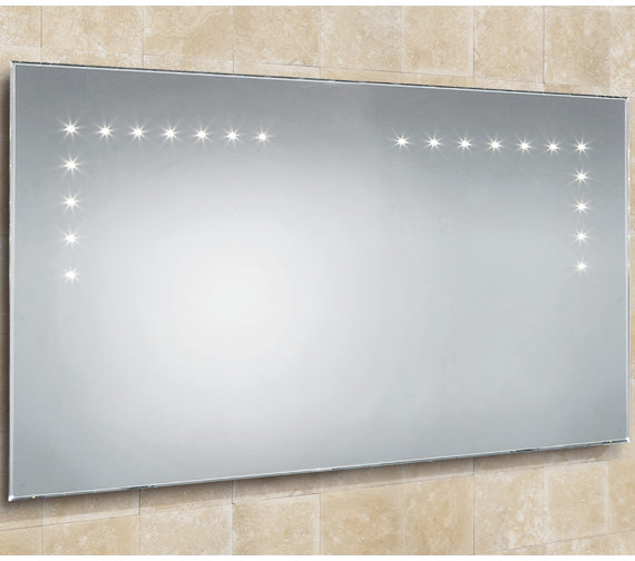 HIB Aaron Landscape Bevelled Edge LED Bathroom Mirror 1000 x 530mm
