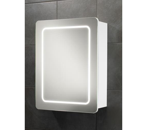 HIB Orlando Single Door LED Back-Lit Illuminated Cabinet 500 x 650mm