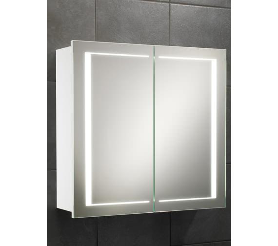 HIB Colorado Double Door LED Back-Lit Illuminated Cabinet 660 x 630mm
