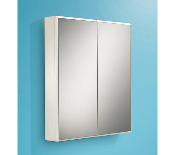 HIB Jersey Slimline Double Door Mirrored Cabinet 650 x 700mm