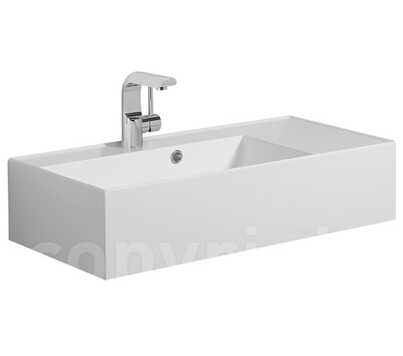 Bauhaus Elite White Gloss Cast Mineral Marble Basin 700mm