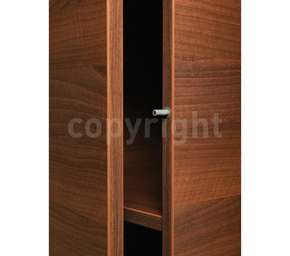 Additional image of Bauhaus Elite Walnut Wall Hung Tower Storage Unit 350 x 1440mm