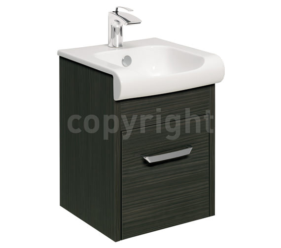 Bauhaus Essence 400mm Wall Hung Anthracite Vanity Unit And Basin