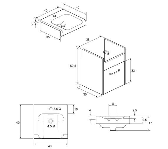 Technical drawing QS-V48026 / ES4000DAN+