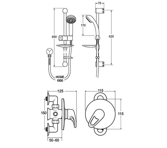 Technical drawing QS-V48096 / LACCMANM02