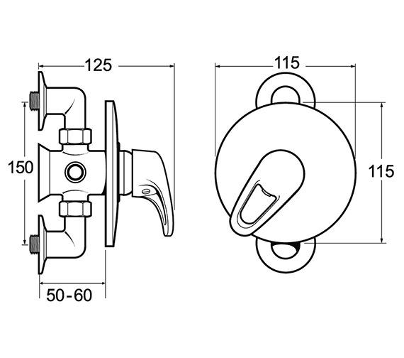 Technical drawing QS-V48097 / LACVMANM03