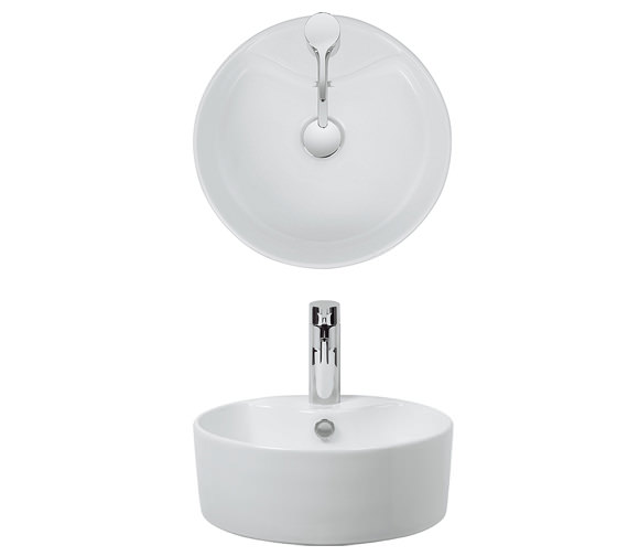 Bauhaus Vienna 390mm Countertop Basin - CT0040SCW