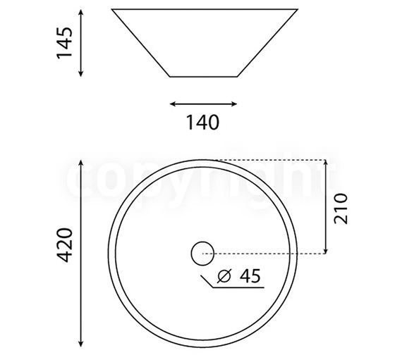 Technical drawing QS-V48158 / CT0015UCW