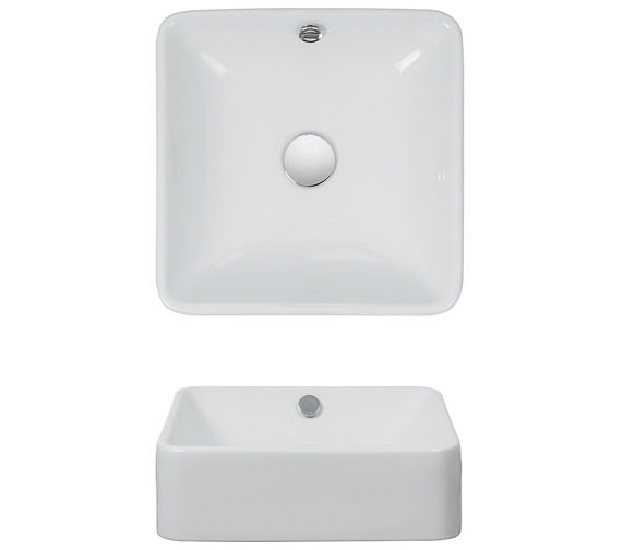 Bauhaus Sevillas 400mm Countertop Basin - CT4008SCW
