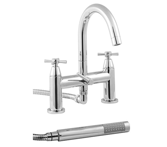 Twyford Rival 2 Hole Deck Mounted Bath Shower Mixer Tap - RL5265CP