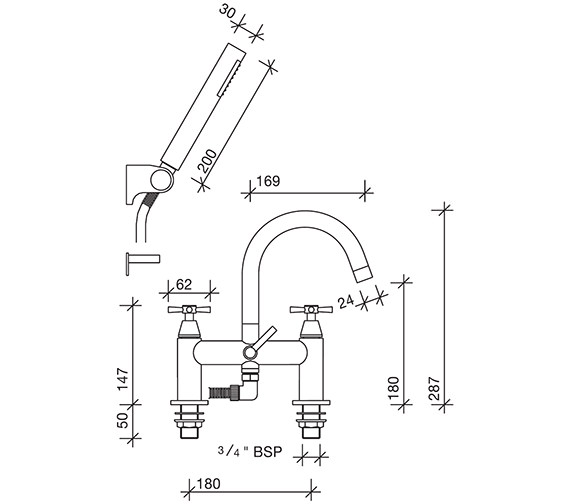 Technical drawing QS-V48251 / RL5265CP